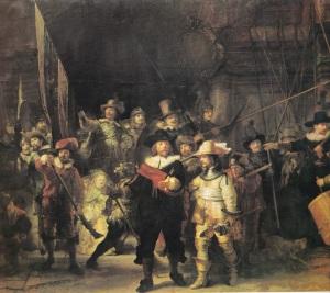 Rembrandtin Yövartio innosti niin meitä kuin Douglasin perhettäkin.